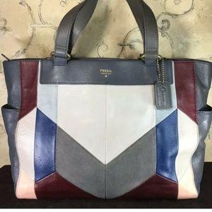 Fossil Amanda Patchwork leather tote/handbag.